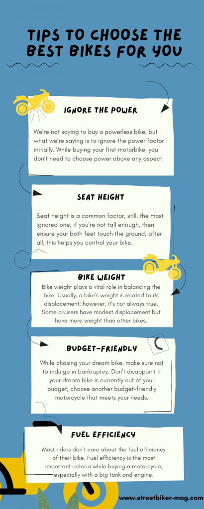 Some tips to choose the best  bikes for you.