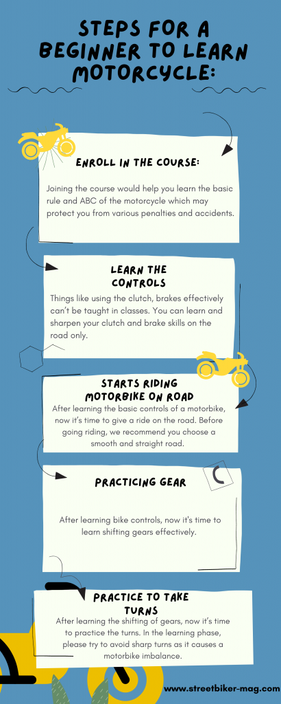 Steps for a Beginner to Learn Motorcycle.