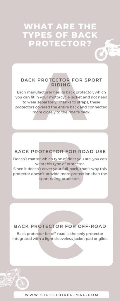 What are the Types of Back Protector.