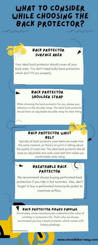 What to Consider While Choosing the Back Protector.