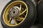Motorcycle tire radial and bias ply