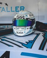 Place a sticker on the visor